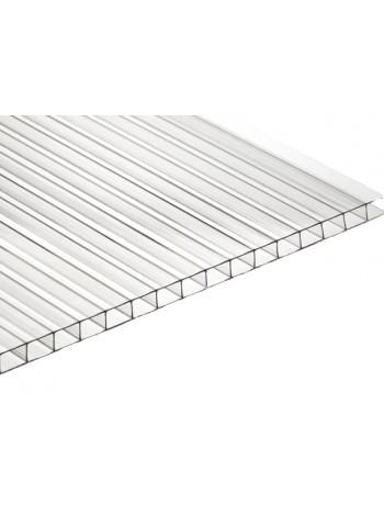 Сотовый поликарбонат Ultramarin м2, толщина 6 мм, прозрачный