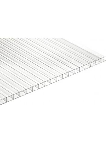 Сотовый поликарбонат Ultramarin 6 мм, лист 6 м, прозрачный