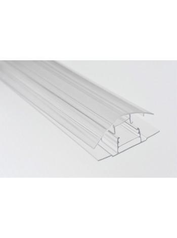 Соединительный профиль HCP, 4-10 мм (крышка база), для сотового поликарбоната, длина листа 6 м
