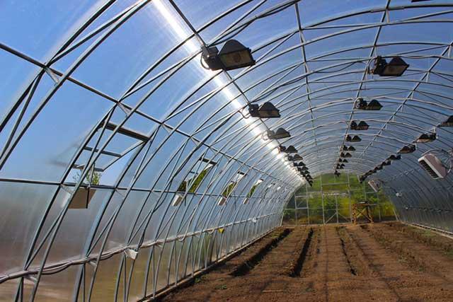 фермерская теплица под поликарбонат 8 метров