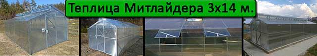 теплица Митлайдера 3х14
