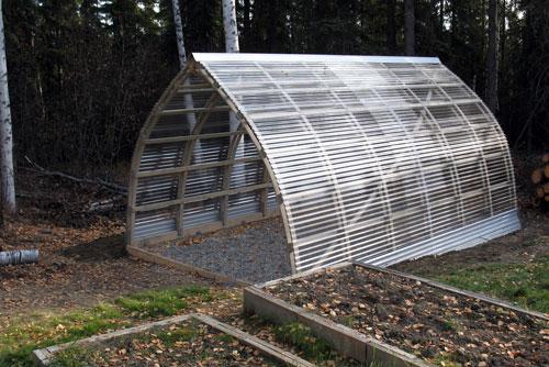 Тепличная конструкцияиз поликарбоната