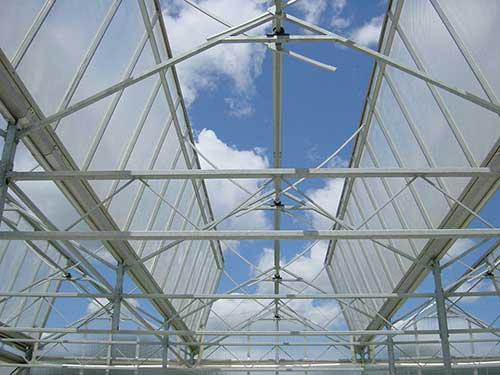 Система вентиляции для промышленных теплиц