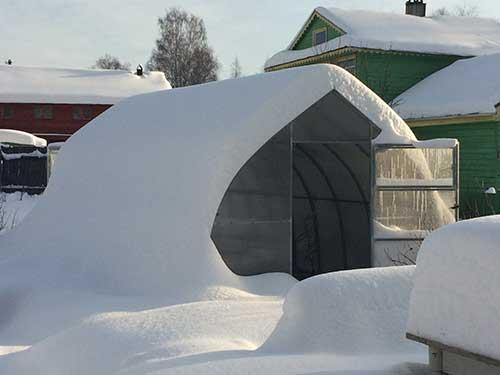 Установка зимней теплицы для доращивания