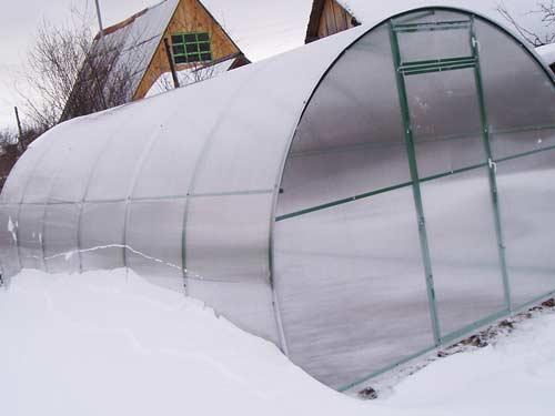 Секреты ухода за поликарбонатной теплицей зимой